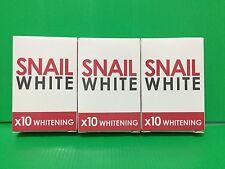 3X Gluta,Glutathione,Soap Snail White Whitening,Dark Spots Damage Skin Face,Body