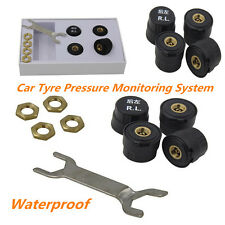 Car Bluetooth TPMS Tyre Pressure Monitoring Alarm Warning System & 4 Sensor Kit