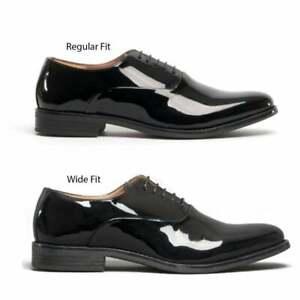 Blakeseys Mens Regular/Wide Fit Formal Elegant Lace Up Oxford Shoes Patent Black