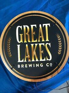 Great Lakes Brewing Company Cleveland OH Lighted LED Metal and Wood Sign - L@@K