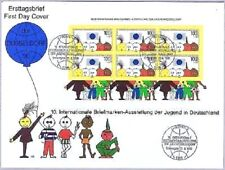BRD 1990: Großformatiger FDC mit dem Briefmarken-Ausstellungs-Block Nr. 21! 1803