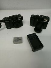 two Canon PowerShot G10 14.7MP Digital Camera - LCD working- FOR PARTS