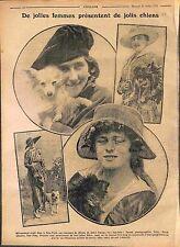 New York Concours de Chiens Dogs Lauréats Robe Chapeau Fashion Croquis WWI 1916