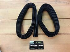 GM Ford Cadillac Flocked Window Glass Run Channel Weatherstrip Seal  2pc 96""
