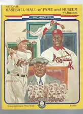 1981 National Baseball Hall of Fame and Museum Yearbook BOB GIBSON JOHNNY MIZE