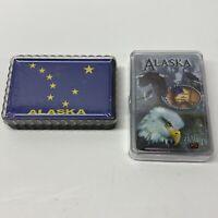 Alaska Souvenir Playing Cards, Map And Eagle Decks - NEW