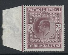 GB. KE VII: 1911. SG317, 2/6 marginal Dark Purple. Lightly Mounted mint