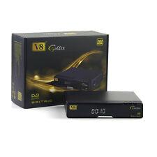 V8 Golden Satellite TV Receivers HD 1080P HDMI DVB-S2/T2/C support 3g WIFI iptv