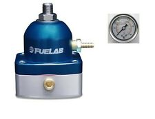 Regulador De Presión Combustible EFI Fuelab serie 515 & Calibrador de presión (Azul) #51502-3