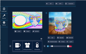Sublimation mockup software - Mug Animator 2019 - make 3D virtual easy MAC/WIN