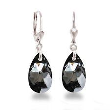 925 Silber Ohrringe mit Swarovski® Kristall Tropfen 16mm Ohrhänger