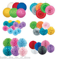 Wedding & Party Decorations Honeycomb Balls, Lanterns, Pom Poms Puff & Fans