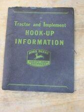John Deere Tractor & Implement Hook-Up Manual Guide 1944 1945 Original