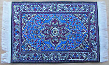 1:12 Scale 25cm x 17.5cm Woven Turkish Rug Doll House Miniature Carpet P22L
