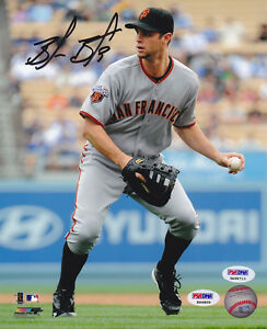 Brandon Belt SIGNED 8x10 Photo Giants + RookieGraph + ITP PSA/DNA AUTOGRAPHED