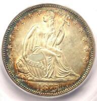 1875 Seated Liberty Half Dollar 50C - Certified ICG MS64 (BU) - $1,500 Value!