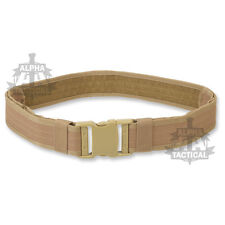 BRITISH ARMY STYLE COMBAT BELT NEW COYOTE QUICK RELEASE ASSAULT WEB