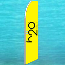 h2o H20 WIRELESS FLUTTER FLAG Tall Cell Phone Advertising Feather Swooper Banner