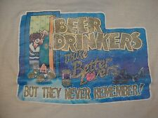 Vintage Iron On Paper Thin Beer Drinker's Better Lovers Forgetful T Shirt M
