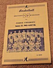 1965 MICHIGAN Wolverines v. Purdue COLLEGE BASKETBALL PROGRAM Cassie Russell