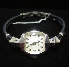 Vintage 1953 Longines Ladies 14K White Gold 17 Jewel Ladies Swiss Wrist Watch