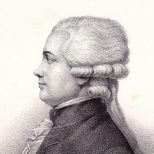 Portrait Jean-Jacques Duval d'Eprémesnil Pondichéry Inde Révolution Française