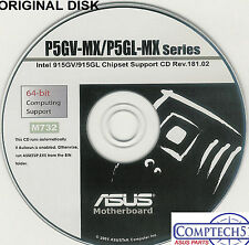 ASUS GENUINE VINTAGE ORIGINAL DISK FOR P5GV-MX  P5GL-MX  Motherb Disk  M732