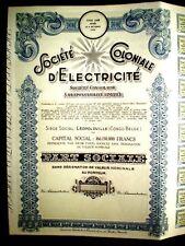 """Belgian Congo stock """"Soc.Coloniale d´Electricité 1951"""