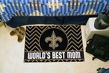 "New Orleans Saints World's Best Mom 19"" X 30"" Starter Area Rug Mat"