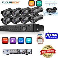 8CH 1080P AHD DVR+4/8XOutdoor 3000TVL 1080P 2MP Camera Security Kit IP Camera US