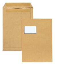 1000 St. Versandtaschen C4 braun mit Fenster selbstklebend 90 g Versandtasche