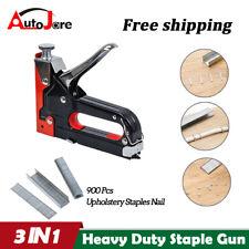 3 in 1 Hand Nail Staple Gun 3 Ways Stapler Tacker for Furniture Wood Home Office