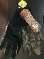 NEW HOT SHOT REALTREE AP CAMO Hunting Mesh Gloves - ONE SIZE - FREE SHIPPING