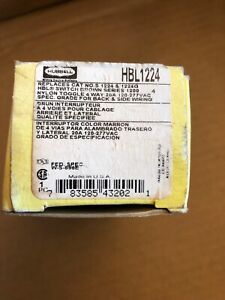 HUBBELL 1224 20 AMP 120-277V 4 WAY SWITCH BROWN