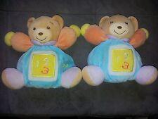 lot de 2 doudous KALOO ours boule 1 2 3 bleu turquoise orange violet