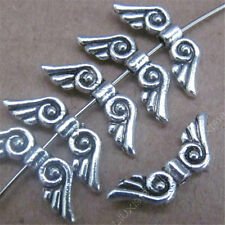 100x Retro Tibetan Silver Small Angel wings Spacer Beads Accessories DIY 479AF