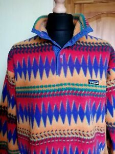 PATAGONIA Synchilla Mens Fleece Jumper Sweater Sweatshirt Size L. RARE