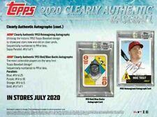 2020 Topps Clearly аутентичной бейсбольной хобби коробка (1 шт./1 Auto) выпускает 6-24-20