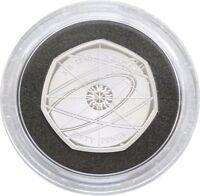 2017 Royal Mint Isaac Newton Piedfort 50p Fifty Pence Silver Proof Coin Box Coa