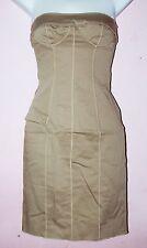 Dolce & Gabbana D&G Women's Olive Green Brown Pencil Strapless Dress Size 36 New