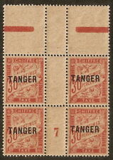 Maroc Taxe N° 40 millésime 7 bloc 4,neuf ** languette, papier GC,superbe
