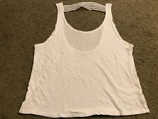 PINK by VICTORIA's SECRET White Logo Casual Blouse Shirt Tank Top womens Medium