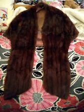 Vintage Nettie Lee Fashion real fur wrap shawl