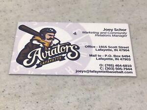 Lafayette Aviators Baseball Team Business Card