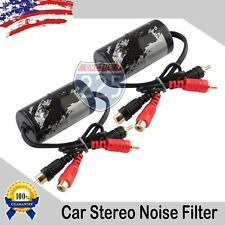 2pcs 60 Amp Ground Loop Isolator Noise Filter 2-Channel Gold Rca Connections Usa