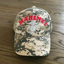 US Marines Embroidered Ball Hat Cap, Adjustable Strap. NWOT.  Camouflage