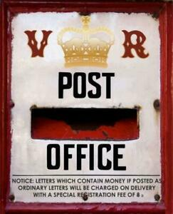 Vintage Style Post Office Letter Box Metal Sign Wall Plaque Steel Poster 15x20cm