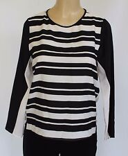 Bar III Front Row Women's Top Blouse White Black size M