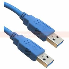 3ft USB 3.0 Type A Male to A Male Cable - Blue