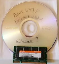 Asus U43F Bamboo Drivers and Utility Disk for Win 7 64bit on any size hard drive